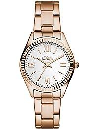 s.Oliver Damen-Armbanduhr Analog Quarz Edelstahl SO-3084-MQ