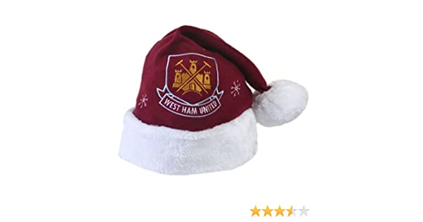 df82c806da7 West Ham United FC Football Xmas Christmas Santa Hat  Amazon.co.uk  Sports    Outdoors