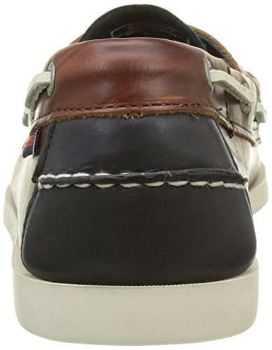 Sebago Herren Spinnaker Bootschuhe Blau (Navy/brown Leather)