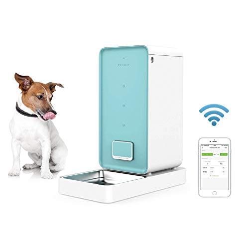 MRXUE 5,9 L Automatischer Pet-Feeder Für Katzen Hunde Kaninchen Maus-Schüssel Mit Timer Für Die Steuerung Per Smartphone-APP, Lebensmittel Spender Leicht Zu Reinigen