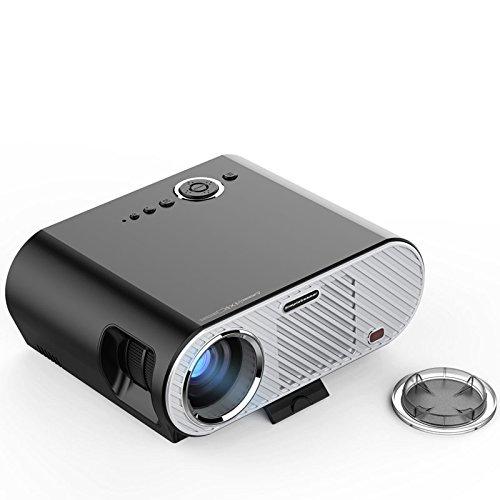 200inch Screen Mini Vidéodisque Portable Projecteur Full HD Home Cinema Cinéma LED Beamer TV 3200 Lumens Vidéoprojecteur 1280 * 800 1080P LCD pour jeu ATV