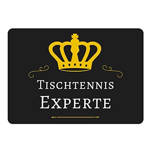 Mousepad Tischtennis Experte schwarz
