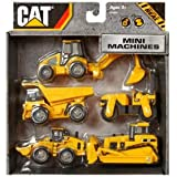 Toystate Complete Caterpillar Construction Mini Machine Five Pack - Made In China (Ages 1+) Jouets, Jeux, Enfant, Peu, Nourrisson
