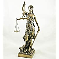 Justitia Blind Woman with Scales of Justice Statue La Justicia Figurine Lawyer Ornament