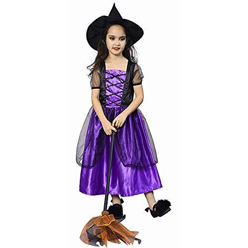 Baby Kostüm Besen - Yqihy Halloween-Kostüm für Kinder, Cosplay, Hexenkostüm für Mädchen, Prinzessinnen-Rock, ohne Besen 7-8