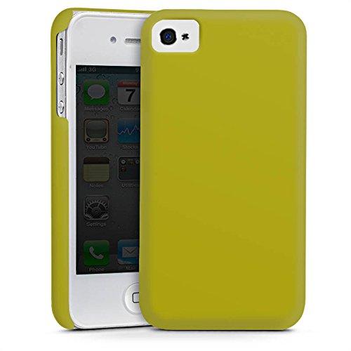 Apple iPhone 5s Housse Étui Protection Coque Olive Vert Vert Cas Premium mat