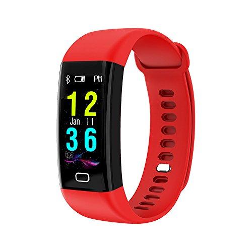 Elospy Fitness Armband Smartwatch Wasserdicht IP68 Fitness Tracker mit Pulsmesser Blutdruckmessgerät 0.96 Zoll Farbbildschirm Aktivitätstracker Schlafmonitor Schrittzähler Anruf SNS für Android iOS