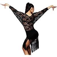 G3018 professionnelle classique universel robes allongée de split latérale de swing à tassel en dentelle semi-transparente de danse standard internationale latine Latin et danse standard La balle Bal Fête soirée de salon fournie par GloriaDance