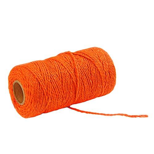 Cord Bäcker (DaoRier 100m Bastelschnur Baumwollschnur Baumwollkordel Dekokordel für Bäcker Bindfäden Geschenkverpackung Dekoration (Orange))