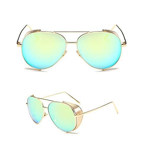 SIMPLEWORD Brand Design Pilot Sonnenbrille Herren und Damen Polarisierte Spiegel UV Glasschutzbrillen zum Fahren Angeln