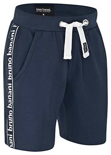 bruno banani Kurze Herren Bermuda Short/Jogginghose/Sporthose/Sweatshorts, Marineblau in S (Polo-shorts)