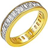 Esprit Women'S Ring 925 Sterling Silver Rhodium Plated Glass Zirconia Pallas White Gold Size P / Q (18.1 MM) S.ELRG91978C180
