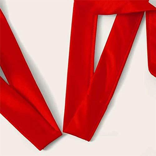 ZJZK Baby Dolls & Negligees Für Damen Damen Dessous Korsett Spitze Bügel Rassig Musselin Nachtwäsche Unterwäsche BHS + Slips Sets Gorge Sexy-Red_XL - 7
