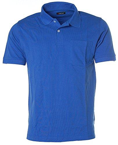 Robert Red Herren Kurzarm Shirt Poloshirt Polokragen Pikee Bright Royal