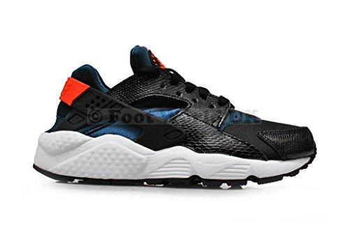 Nike - Air Huarache, Sneakers da donna black hyper cremisi spazio blu 084