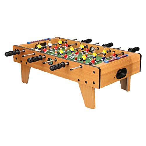 Virhuck 27 Inch Football Table Top Game, 6 Rows Fun Table with Legs, Indoor & Outdoor Table Soccer Game Presents for for Kids Teens and Adults. (27