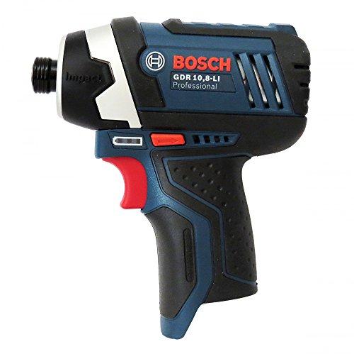 Bosch avvitatore a percussione a batteria GDR 10,8 Li senza L-BOXX senza batterie e caricatore con istruzioni [lingua italiana non garantita]