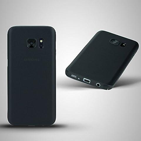cTRON21 Samsung Galaxy S7 Edge Schutzhülle Ultra Slim Case Hülle 0,3 mm TPU HARD Cover hardcase Schwarz