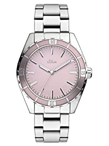 s.Oliver Damen-Armbanduhr Casual Analog Quarz Edelstahl SO-2499-MQ