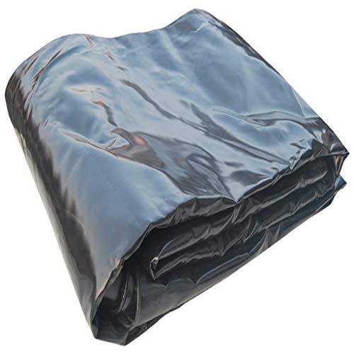 Bâche noire, double couche de PVC imperméable à l'eau de couverture légère résistante légère de pluie forte toile de protection solaire écran anti-humidité de radiation étouffant le tissu anti-vieilli