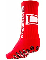 CHAUSSETTE TAPEDESIGN ANTIDERAPANT ROUGE - taille : 39-46