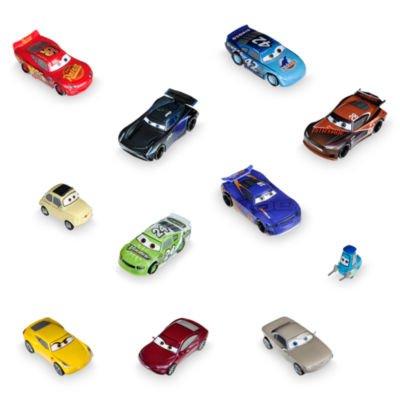 Set de juego exclusivo de figuritas de Disney Pixar Cars 3, 11 elaboradas figuritas de Cars, Figuras de Rayo McQueen, Guido, Luigi, Cruz, Ramírez, Jackson Storm, Sterling Silver y muchos más