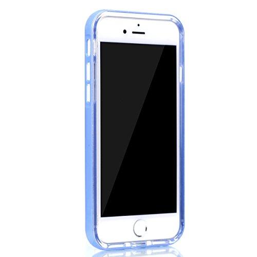 BONROY® TPU Schutzhülle für iPhone 7 (4,7 Zoll) Silikon Handyhülle Case,TPU transparent ultra-slim Weiche Zurück Tasche Etui Bumper Kratzfeste Telefon-Kasten Schutz Etui Bumper für iPhone 7 (4,7 Zoll) blau