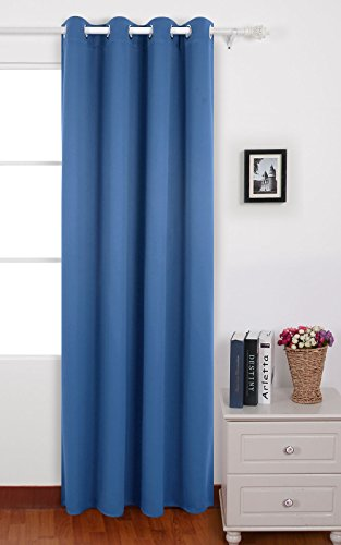Deconovo tende oscuranti termiche isolanti tende da sole con occhielli per casa moderna 140x290 cm blu acciaio 1 pannello