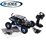 s-idee® 18112 S12428B RC Auto Buggy Monstertruck 1:12 mit 2,4 GHz 50 km/h schnell, wendig, voll digital proportional 4x4 Allrad WL Toys ferngesteuertes Buggy Racing RC Auto