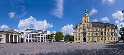 Pixblick - Stadtschloss in Oldenburg - Hochwertiges Wandbild - Hartschaumplatte/Forex 50 x 20 cm