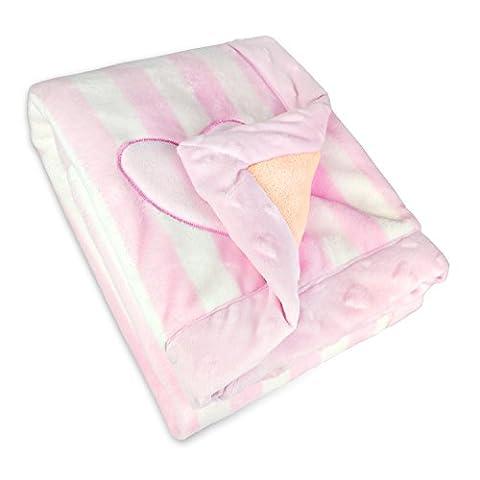 Zebrum Baby Blanket boys/ girls, Double Layers Flannel Soft Infant Blanket, 75X100cm (Pink)