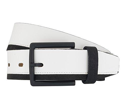 LLOYD Men's Belts Gürtel Herrengürtel Ledergürtel Sneaker Gürtel Weiß 6891, Farbe:Weiß, Länge:125 cm
