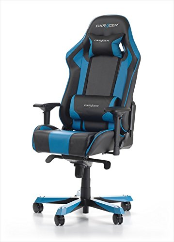 DXRacer OH/KF06/NB – Silla (Negro, Azul, Negro, Azul, Vinilo, Vinilo, Negro, Azul, Aluminio)
