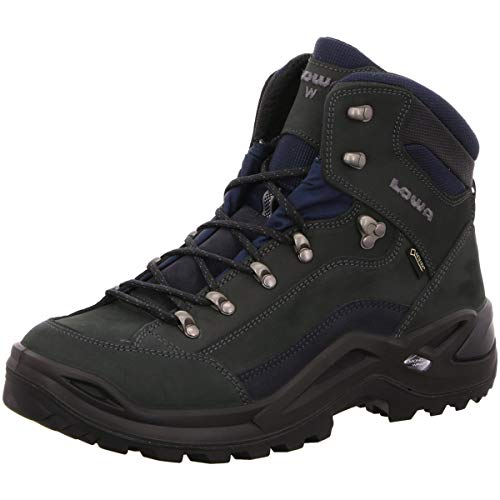 Lowa Renegade GTX Mid Wide Men Größe UK 12 dunkelgrau/Navy