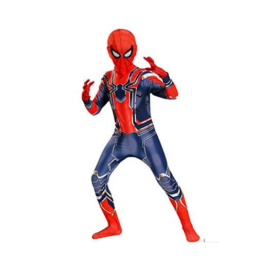 Mann Kostüm Blue Iron - ZHANGQI Halloween Spider-Man Kleidung Kinder/Erwachsene Strumpfhosen 3D Print Spandex Cosplay Kostüm Ball Kostüm,Blue-110