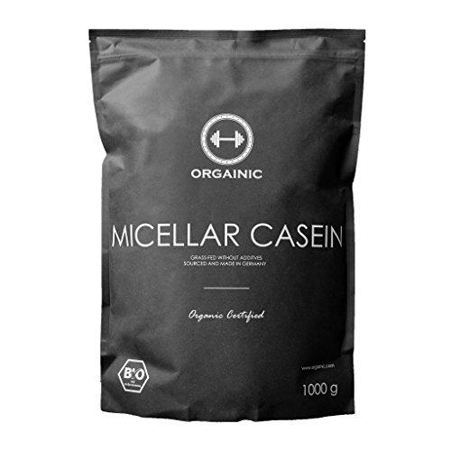 ORGAINIC Bio Natural Micellar Casein - Bio Zertifizierung (DE-ÖKO-006) - Grasfütterung - 1000 g