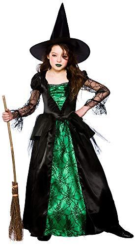 Emerald Witch (Deluxe) - Kids Fancy Dress Kostüm 3/4 Jahre (Deluxe Dress Kostüm Fancy)