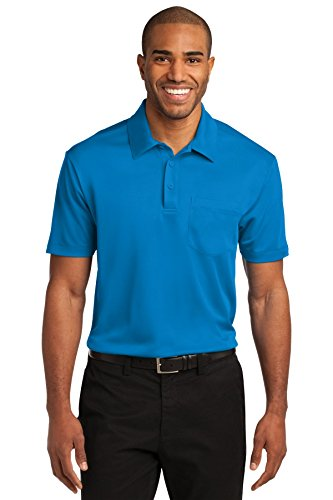 Port Authority® Silk Touch™ Performance Pocket Polo. K540P Brilliant Blue 2XL