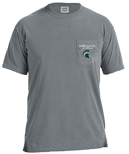 Image One NCAA Michigan State Spartans Adventures T-Shirt, kurzärmelig, bequem, farbig, Größe XL, Granit -