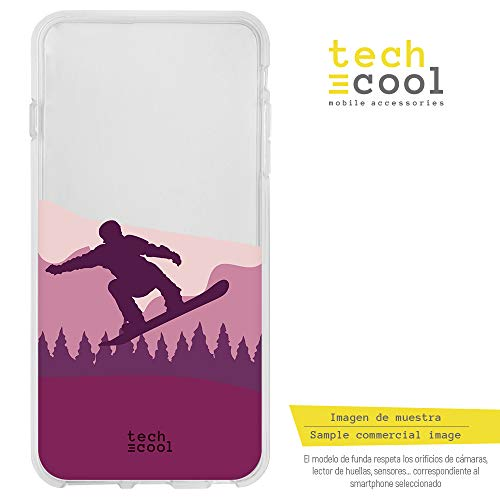 (Funnytech Huawei Y6 2018 Hülle SchutzHülle Soft TPU Silikon Transparent für Huawei Y6 2018 l Case, Cover, Handy, High Definition Druck [Snow vers. 1 rosa transparente])