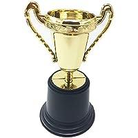 TRIXES Mini Trofeos 5 Piezas Oro Deportes Día Favorito Maestro Motivación Plástico Regalo Novedad Infantil Modelo de Premio