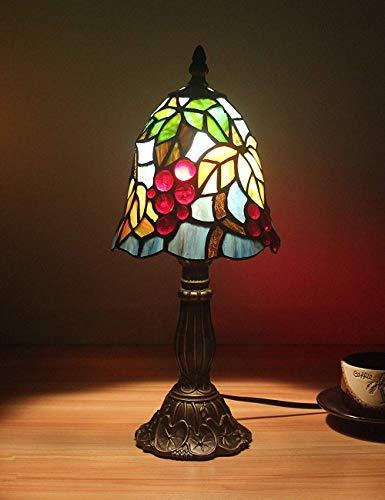 Bronze Tiffany Tischlampe (6 Zoll kleine Weinblätter pastoralen minimalistischen Stil Tischlampe Nachttischlampe Schreibtischlampe Wohnzimmer Bar Lampe)