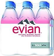 Evian Natural mineral water promo - EV6300, 500 ml, 5+1 Free