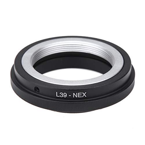 Funnyrunstore L39-NEX Bague d'adaptation pour Objectif d'appareil Photo L39 M39 LTM Monture d'objectif Proche pour Sony NEX 3 5 A7 E A7R Convertisseur A7II Vis L39-NEX Noir