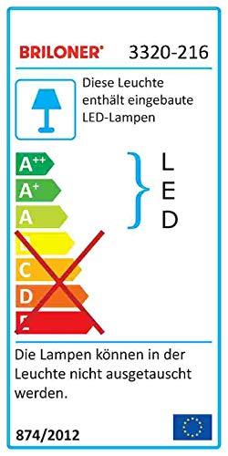 colore bianco Lampada da soffitto a LED con decoro a stella 1600 lumen /Ø 39 cm Briloner Leuchten lampada da soffitto 18 Watt