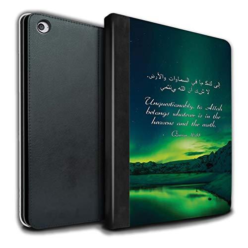 Stuff4® PU-Leder Hülle/Case/Brieftasche für Apple iPad Air 2 Tablet/Himmel Und Erde Muster/Islam Koran Vers Kollektion