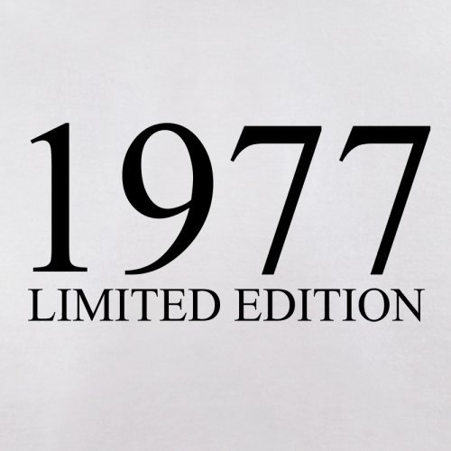 1977 Limierte Auflage / Limited Edition - 40. Geburtstag - Herren T-Shirt - 13 Farben Weiß