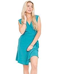 likemary Open Back Lara Wrap Dress Aqua