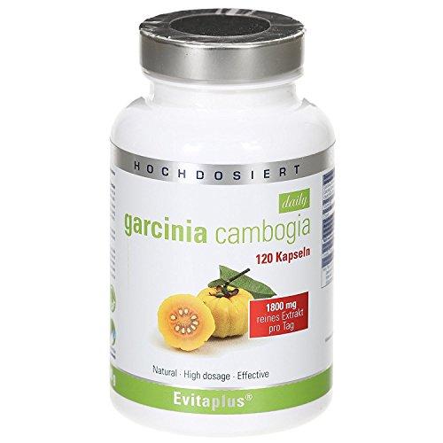 Garcinia Cambogia Daily, integratore alimentare, 120 capsule vegane, 1.800 mg al giorno (etichetta in lingua italiana non garantita)