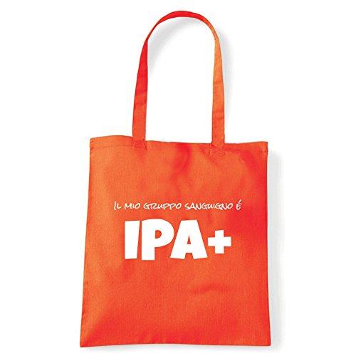 Art T-shirt, Borsa Shoulder IPA+, Shopper, Mare Arancio
